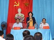 La présidente de l'Assemblée nationale se rend à Bac Kan