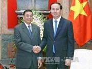 Le président Tran Dai Quang reçoit le chef du Bureau de la présidence du Laos