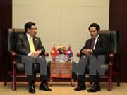 Pham Binh Minh rencontre les ministres des Affaires étrangères du Laos et du Brunei