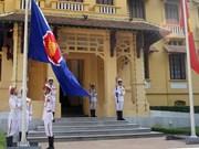 Cérémonie de lever du drapeau de l'ASEAN à Hanoi