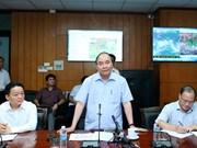Tempête Dianmu : faire au mieux pour protéger la vie de la population et les biens de l'Etat