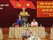 La présidente de l'Assemblée nationale à Nam Dinh