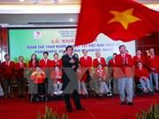 Les sportifs vietnamies partent pour les Jeux paralympiques de Rio 2016