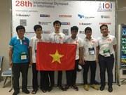 Le Vietnam médaillé d'or aux Olympiades internationales d'informatique