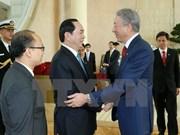Le président Tran Dai Quang termine sa visite à Singapour