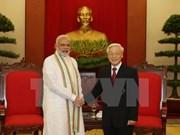 Le secrétaire général Nguyên Phu Trong reçoit le PM indien