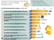 Les dix plus puissantes marques du Vietnam en 2016