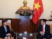 Le vice-Premier ministre Pham Binh Minh reçoit l'ambassadeur singapourien