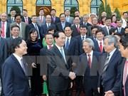 Le président de la République accueille les nouveaux professeurs