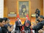 Le président Tran Dai Quang s'entretient avec son homologue péruvien