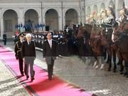 Le Vietnam prend en haute considération les relations de coopération multiforme avec l'Italie