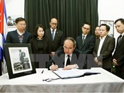Le président du FPV Nguyen Thien Nhan rend hommage au leader cubain Fidel Castro