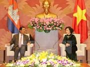 La présidente de l'AN vietnamienne plaide pour les liens Vietnam-Cambodge