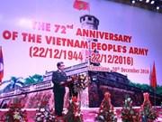Célébration au Laos des 72 ans de la fondation de l'Armée populaire du Vietnam