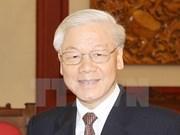 Le secrétaire général Nguyen Phu Trong part pour une visite officielle en Chine