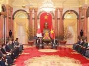 Le président Trân Dai Quang salue le rôle du PM japonais dans le partenariat Vietnam-Japon