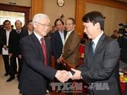 Nguyen Phu Trong présente ses vœux du Têt au bureau du Comité central du Parti
