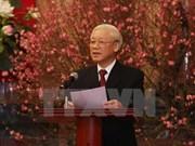 Le leader du PCV présente ses voeux au peuple et aux dirigeants du Parti et de l'Etat