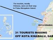 Un bateau transportant des touristes chinois porté disparu en Malaisie