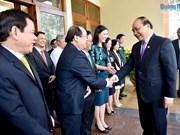 Le PM Nguyen Xuan Phuc formule ses vœux du Têt à la population de Quang Ngai