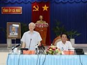 Le leader du PCV encourage Ca Mau à développer l'économie maritime et forestière