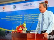 Ninh Thuan et l'UNICEF coopèrent face aux changements climatiques