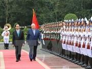 Le président israélien termine sa visite au Vietnam