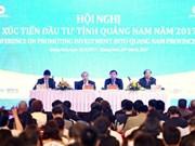 Le Premier ministre à une conférence de promotion de l'investissement à Quang Nam