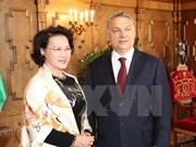 La présidente de l'AN rencontre le PM hongrois