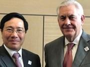 Le chef de la diplomatie vietnamienne en visite officielle aux Etats-Unis