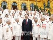 Tran Dai Quang rencontre d'anciens policiers envoyés au Sud pendant la guerre
