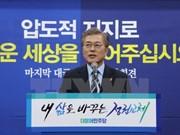 Félicitations au nouveau président sud-coréen