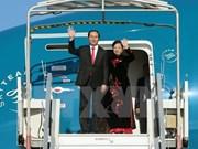 Le président Tran Dai Quang et son épouse en visite d'Etat en Chine
