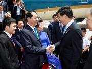 Le président Tran Dai Quang et son épouse entament une visite d'Etat en Chine