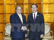 Le président rencontre les dirigeants pakistanais et japonais