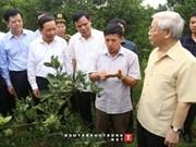 Le secrétaire général du Parti travaille dans la province de Hoa Binh