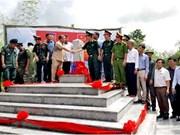 Inauguration de bornes à la frontière Vietnam - Cambodge