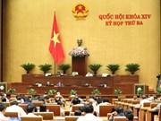 AN: adoption de certaines lois et débats sur le budget d'Etat et les créances douteuses