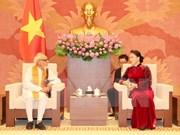 La présidente de l'AN souligne le partenariat stratégique intégral Vietnam-Inde
