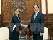 Le président Trân Dai Quang reçoit l'ambassadrice israélienne Meirav Eilon Shahar