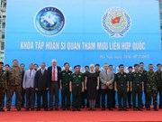 Formation d'officiers d'état-major pour l'ONU au Vietnam