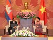 Vietnam-Cambodge: Entretien entre Nguyên Thi Kim Ngân et Samdech Heng Samrin