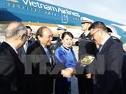 Le PM Nguyen Xuan Phuc arrive à Francfort pour sa visite en Allemagne et le Sommet du G20