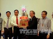 Le président du CC du FPV rend visite à des dignitaires religieux de HCM-Ville