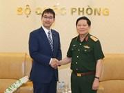 Le ministre de la Défense Ngô Xuân Lich  reçoit le conseiller spécial du PM japonais