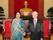 Le secrétaire général du PCV reçoit la présidente du Parlement bangladais