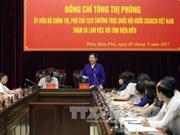 La vice-présiente de l'AN Tong Thi Phong en déplacement à Diên Biên