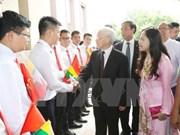 Le secrétaire général Nguyen Phu Trong débute sa visite d'Etat au Myanmar