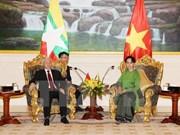 Entrevue Nguyen Phu Trong – Aung San Suu Kyi