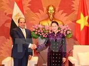 La présidente de l'AN Nguyen Thi Kim Ngan reçoit le président égyptien